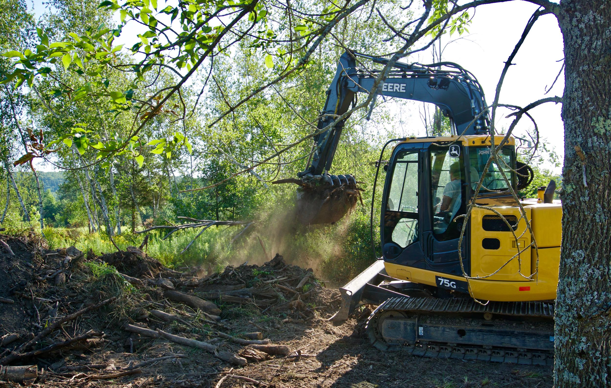 excavator sitework