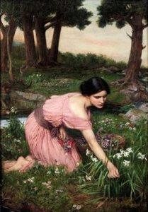 John-William-Waterhouse-Spring-Spreads-One-Green-Lap-of-Flowers