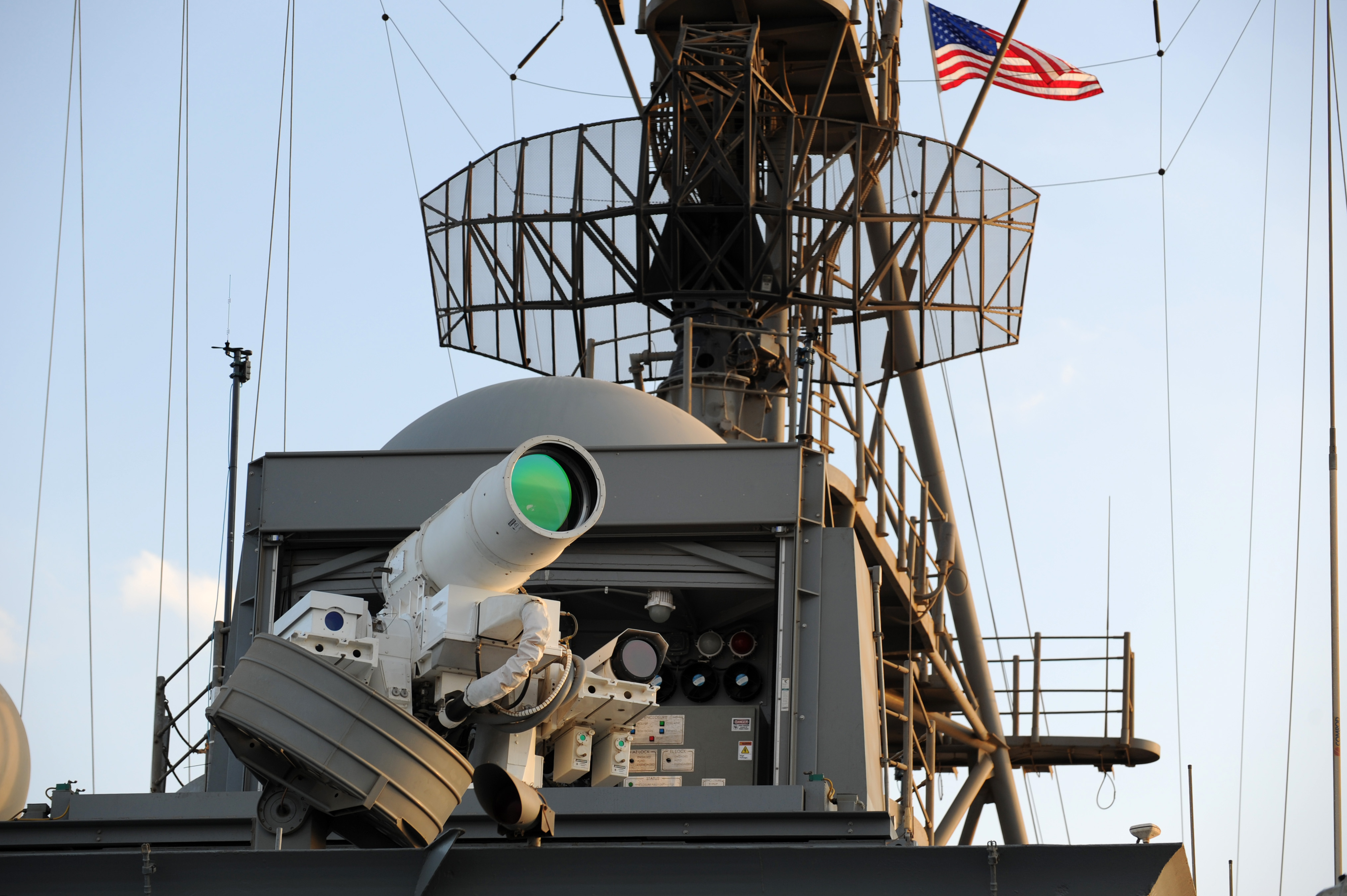 A US Navy Laser Weapons System demonstrator.