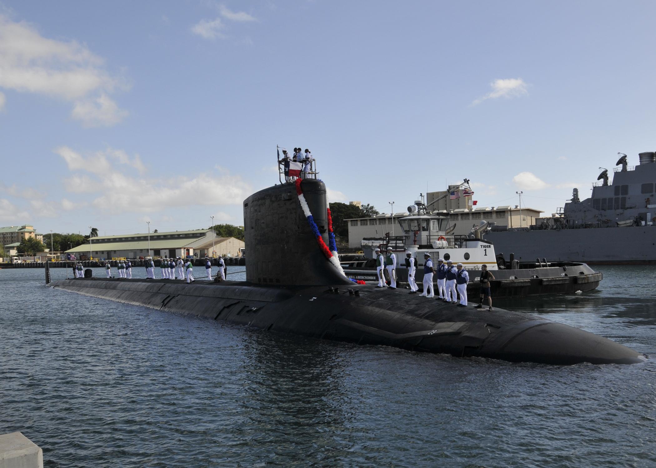 A Virginia-class nuclear attack submarine.