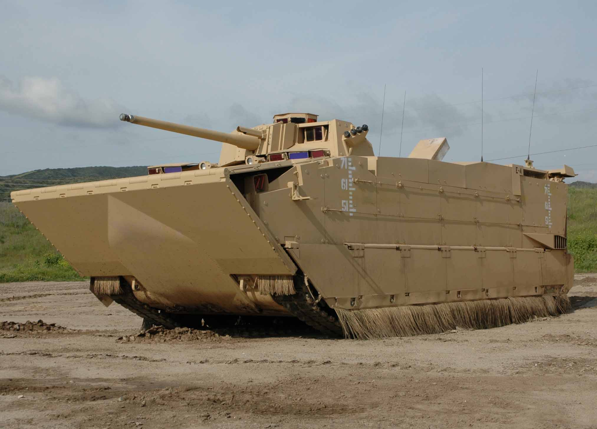 A prototype of the US Marines' Expeditionary Fighting Vehicle. The program was later canceled.