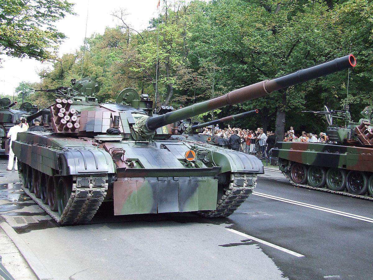 The Polish PT-91 main battle tank is a modernized version of the T-72.