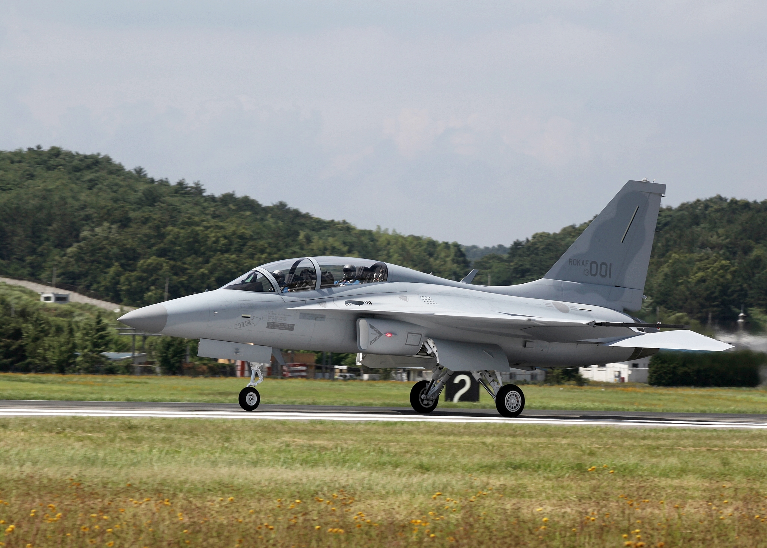 An FA-50 taxis on the runway. Korean Aerospace Industries image.