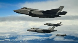 Hill Air Force Base F-35As fly in formation above UTTR