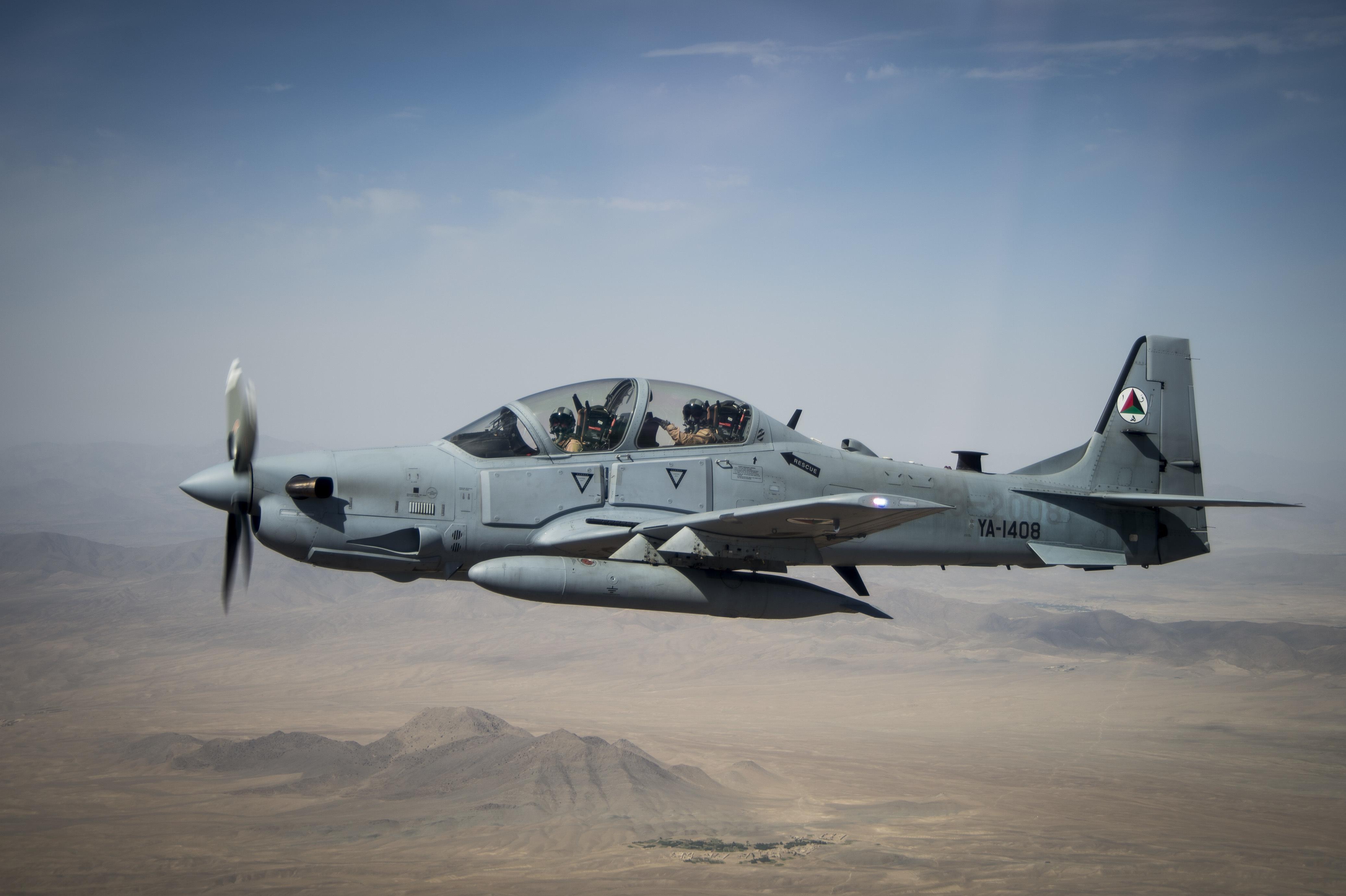A-29s sobre o Afeganistão