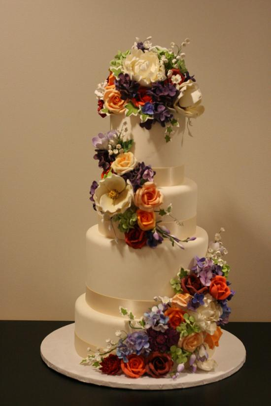Fondant Wedding Cake Gallery  White Flower Cake Shoppe