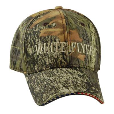 white flyer camo hat