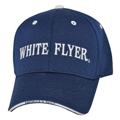 white flyer navy hat