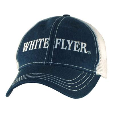 white flyer mesh trucker