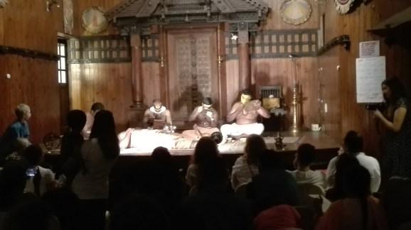 Kathakali - applying the make up