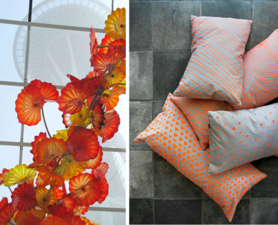 Orange  Chihuly&pillows