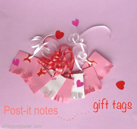Post it note tags steps 4-1
