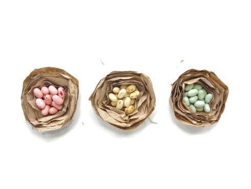 paper nests filled with Jelly Belly