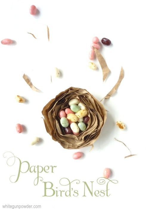 paper bird's nest filled with Jelly Belly