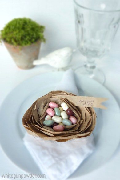 Paper Nest, table setting