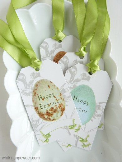 Easter egg gift tags