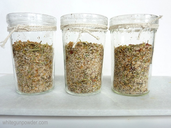 citrus seasoning salt jars