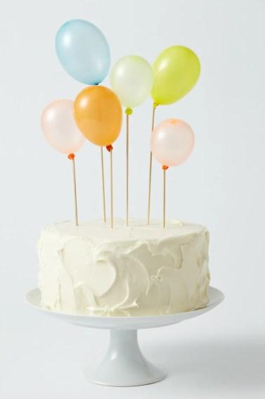 cake & balloons