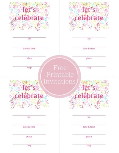 Party invitation free printables