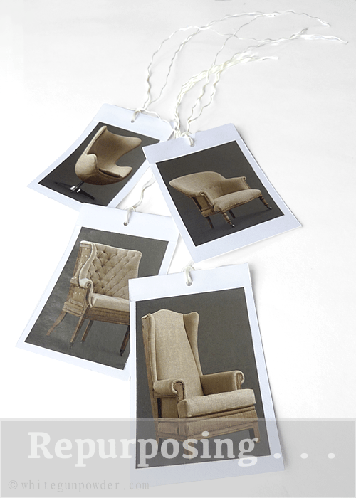 magazine/catalog pages,  gift wrapping & tags