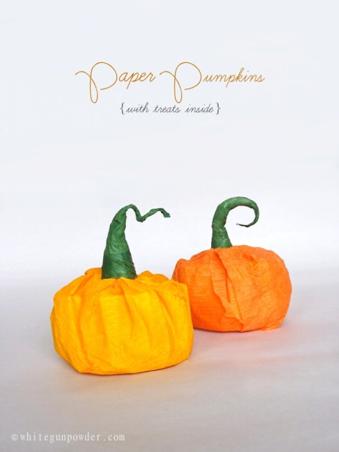 Halloween ~ Mini Paper Pumpkins with Treats