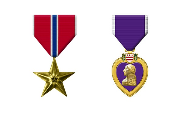 Verterans Day,  Purple Heart & Bronze Star