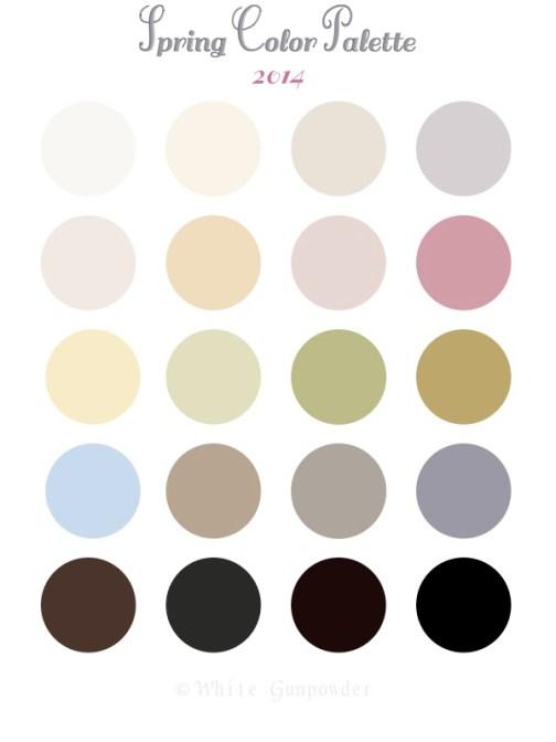 Spring 2014 color Palette
