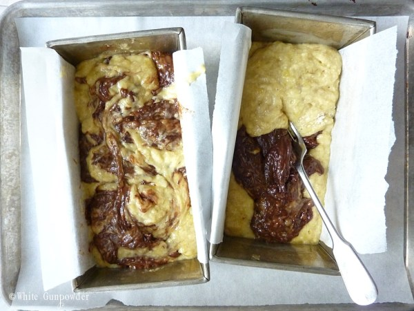 Marbled-Chocolate Banana Bread