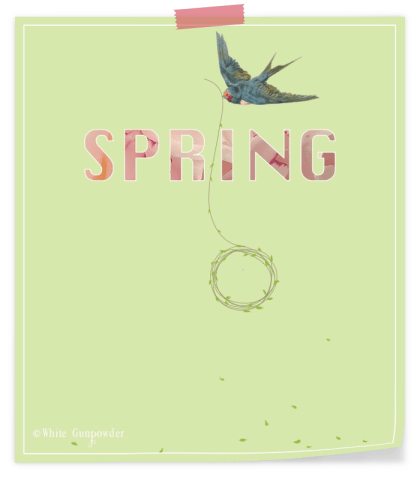 Spring printable {bird/wreath}