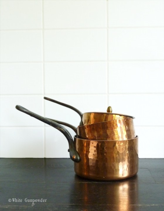 French, collecting copper pots & pans