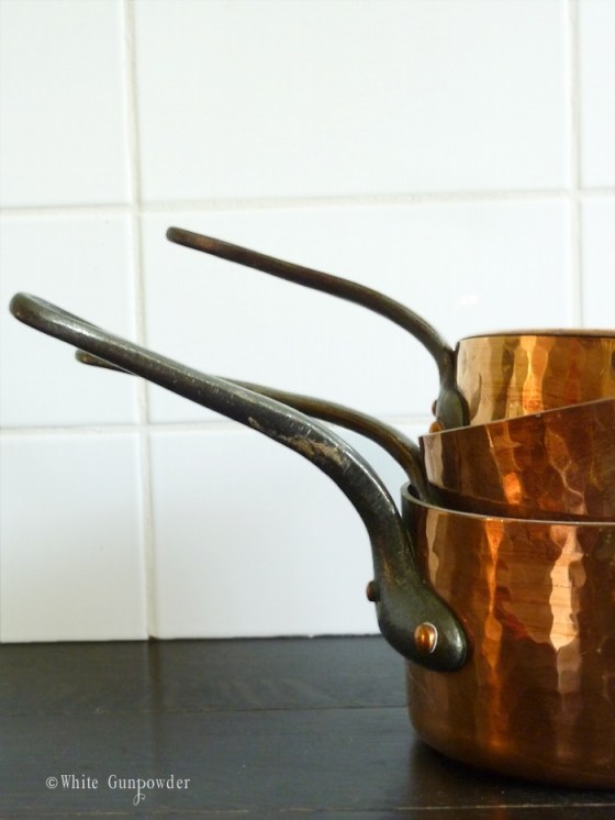 French copper pots & pans