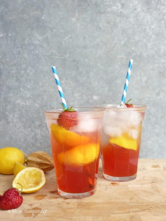 Summer, strawberry lemonade