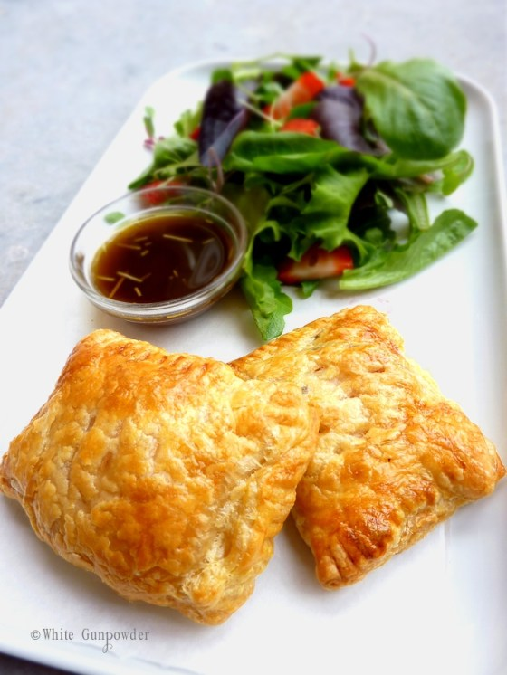 Puff Pastry with Ham and Cheese Sandwiches