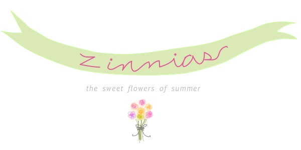 Zinnias - White Gunpowder