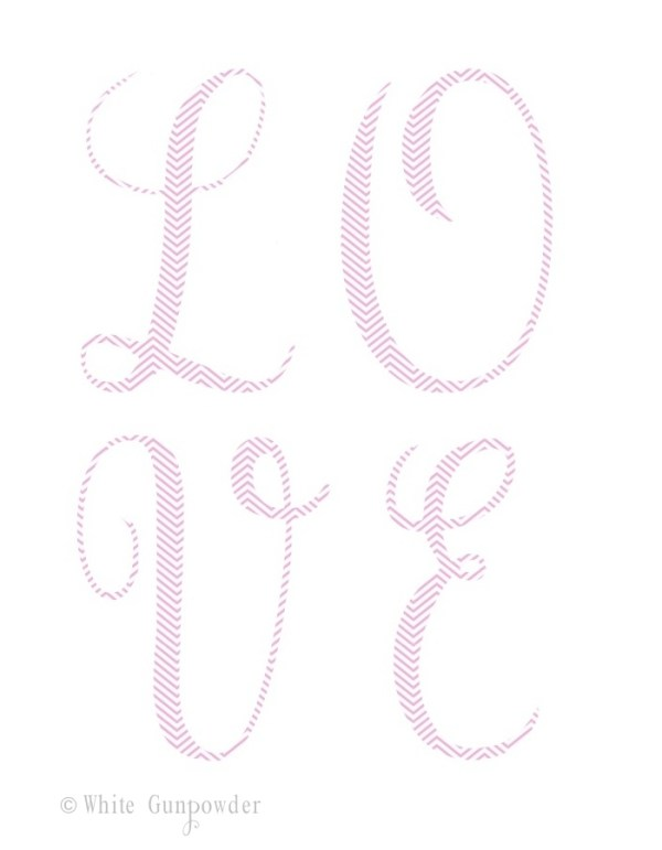 Valentine's Day Card - chevron, love