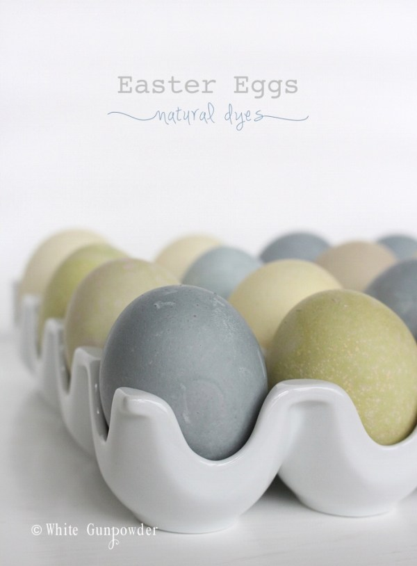 Easter eggs - natural dyes