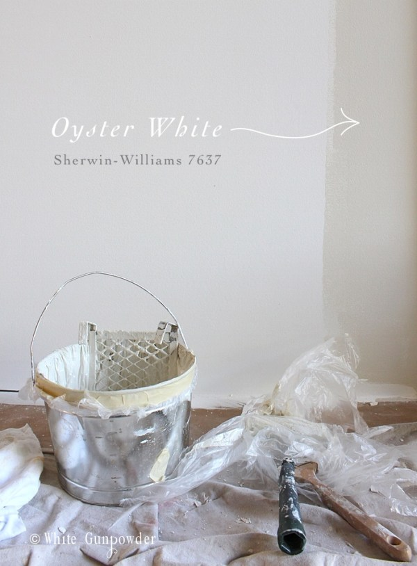 Paint, oyster white Sherwin-Wiilliams