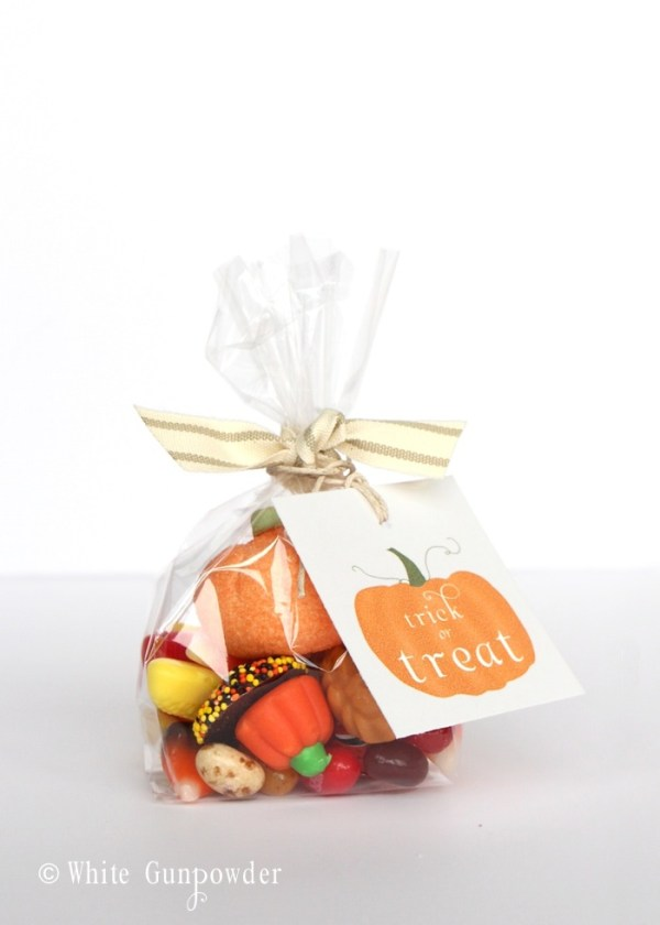 Halloween - pumpkin tags - candy bags
