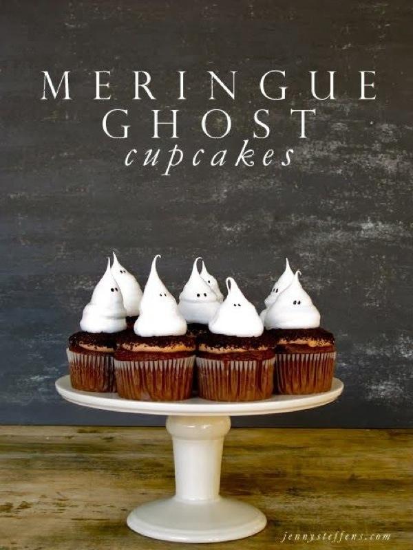 Halloween - ghost-cupcakes