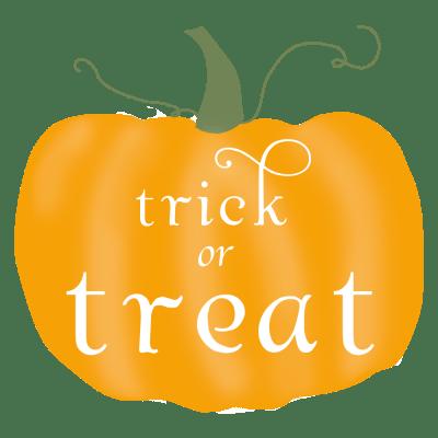 Halloween pumpkin - trick treat tags