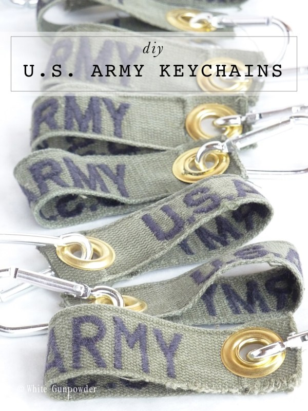 diy US Army keychains