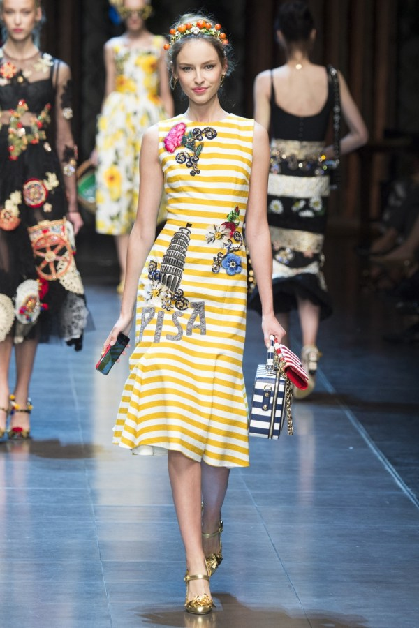 Fashion-stripes, Dolce Gabbana Spring 2016 wh1000