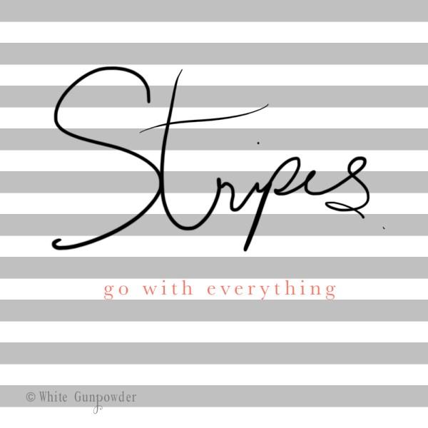 Stripes Spring Summer 2016 White Gunpowder