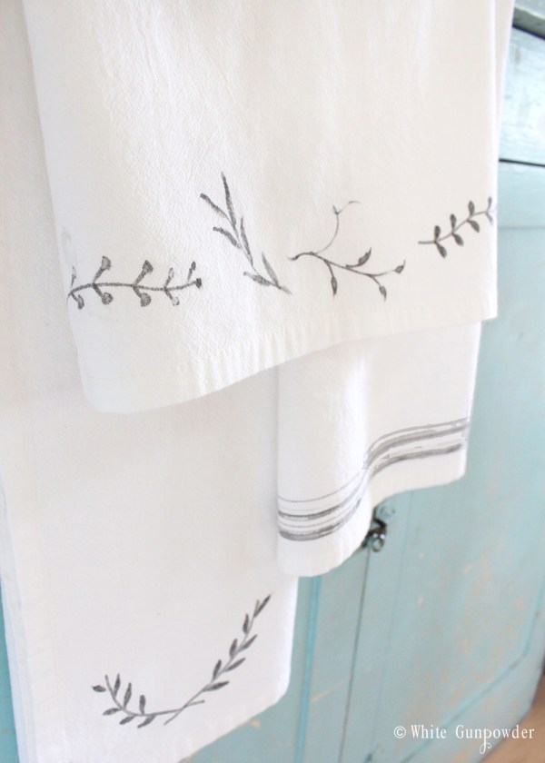 diy Flour sack towels