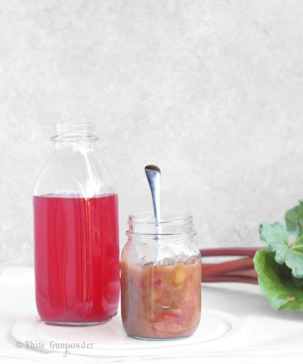 Rhubarb beverages - compote