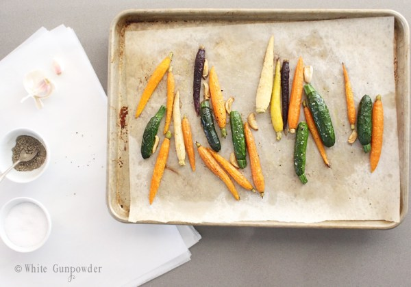 Roasted vegetables - zucchini & carrots