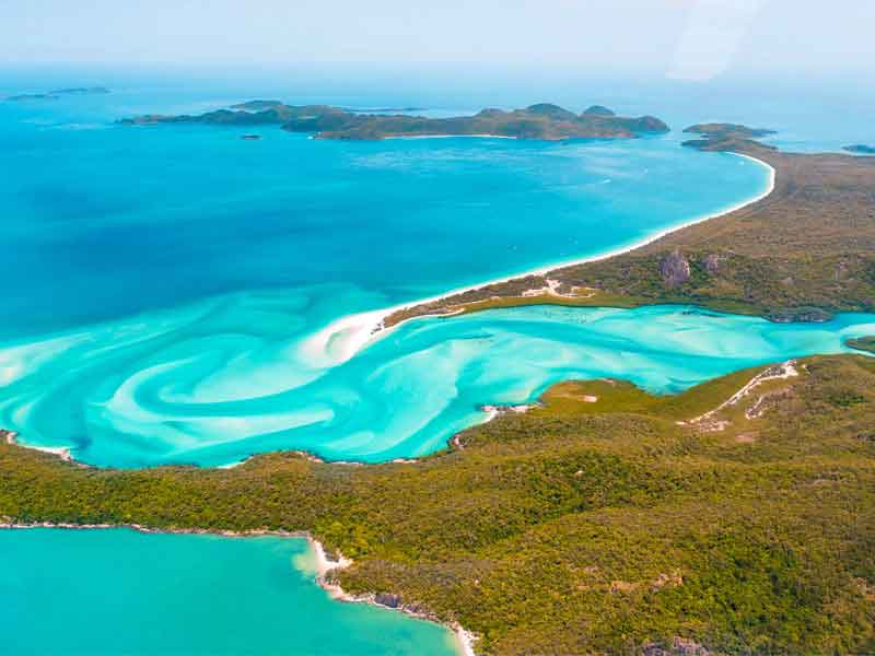 Whitehaven Beach Picture Taken From Seaplane