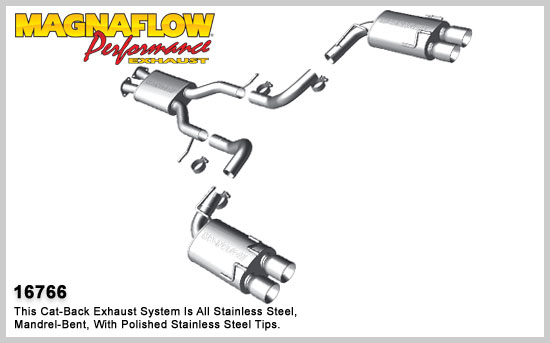 Magnaflow Stainless Steel Cat-Back Dual Exhaust System