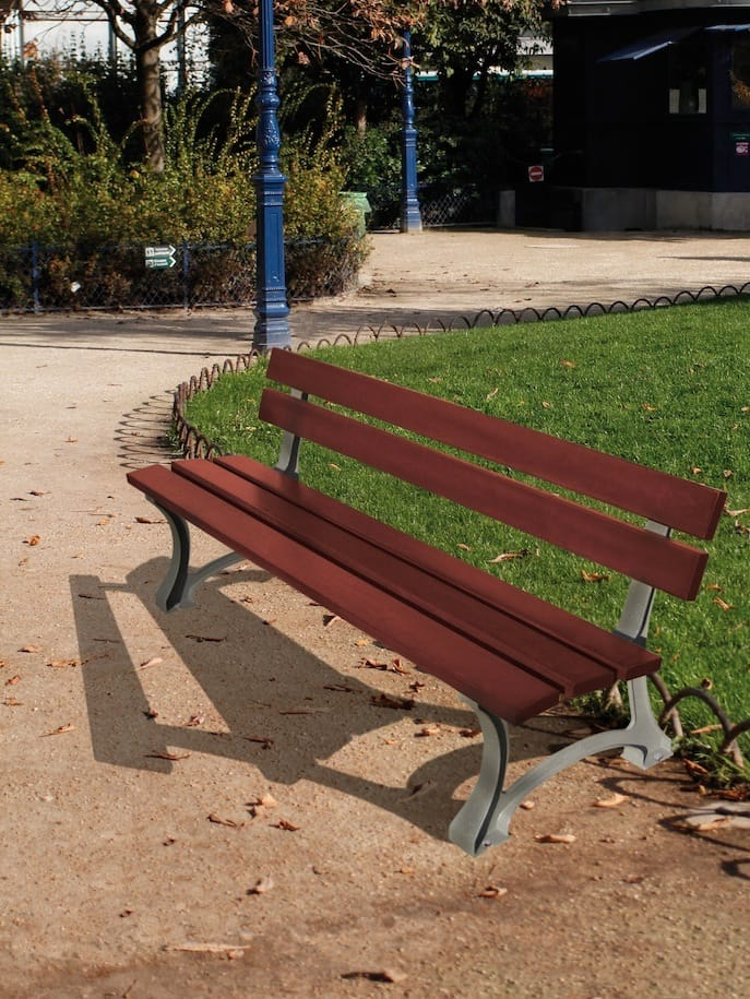Mora Park Bench Hardwood Timber And Cast Steel End Frames