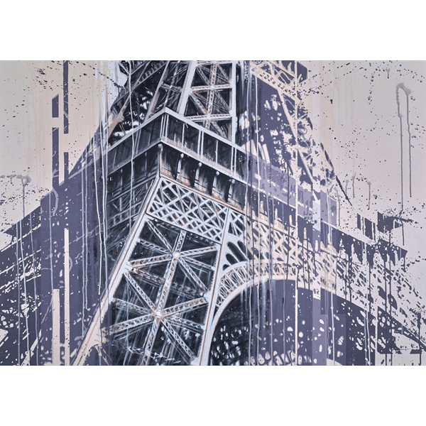 Eiffel Tower View - Kris Hardy - Original Artwork